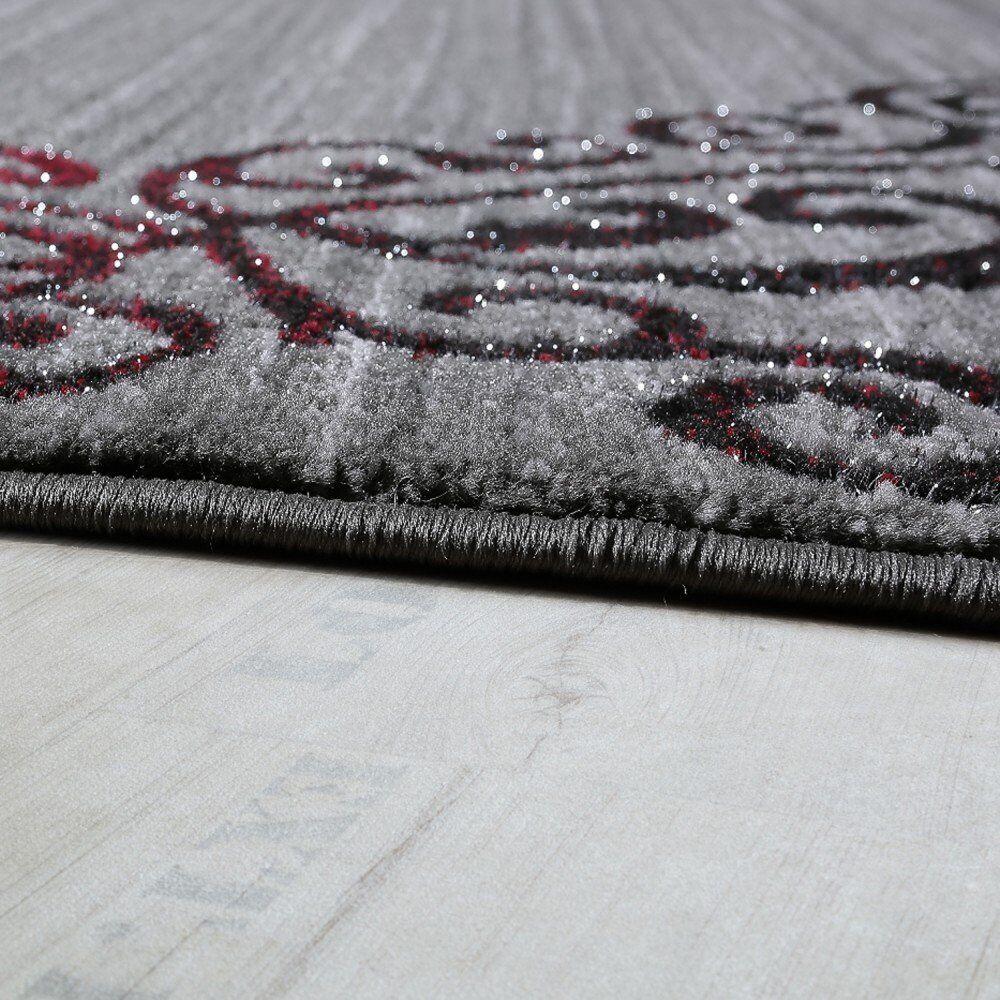 Grand oriental gris tapis tapis tapis argent noir rouge designer plancher tapis doux chambre tapis | Durable Service  9a88df