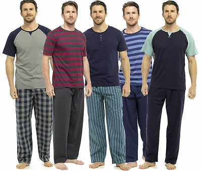 WunderschöNen Mens Pyjamas Short Sleeve T Shirt Top Trousers Pjs Nightwear Lounge Wear Pants