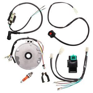 Universal-50-140cc-Dirt-Pit-Bike-150mm-CDI-Spark-Plug-Switch-Wire-Harness-Kit