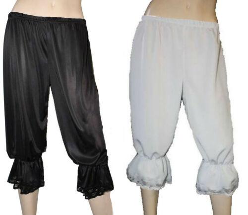 White Black Steampunk Long Bloomers Pants Fancy Dress Costumes Halloween Theme