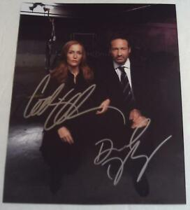 GILLIAN-ANDERSON-amp-DAVID-DUCHOVNY-Autographed-Hand-Signed-X-FILES-Photograph