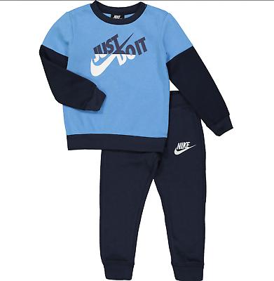 Responsabile Nike Tuta Baby Boys In Pile-fallo Logo 9/12m 12/18m Blue & Navy Nuovo Con Etichetta-mostra Il Titolo Originale