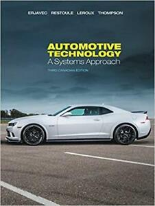 Automotive Technology A Systems Approach 3rd Canadian Edition Canada Preview