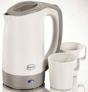 Swan Sk19010n Electric Travel Jug Kettle 0 5l With 2 Cups
