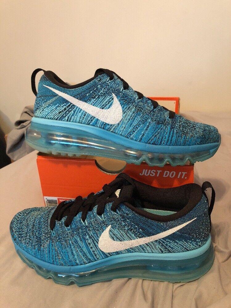 Nuevo!Nike Wmns Flyknit Max negro SZ 5,5 blanco / negro Max / azul 1c04e8