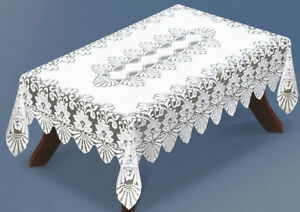 LaceTablecloth-White-Wedding-Dining-NEW-Floral-Gift-Homedecor-Rectangular