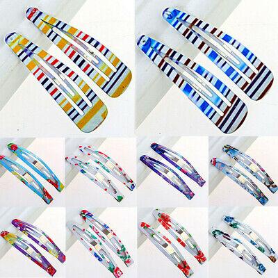 10X Snap Hair Clip Hairpin Barrette Headwear Accessories For Baby Girls Children