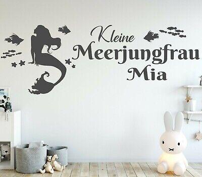 Wandtattoo Kinderzimmer Madchen Name Wandtattoo Madchen Name Meerjungfrau Ki414 Ebay