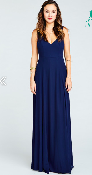 Show Me Your Mumu Jenn Jenn Jenn Maxi Gown Dress- Rich Navy Crisp Size X-Large   198 b05061