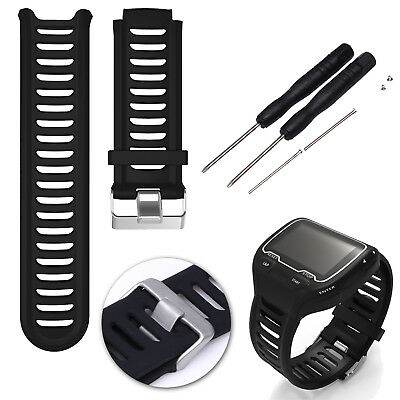 Replacement Silicone Wrist Band Strap for Garmin Forerunner 910xt Black