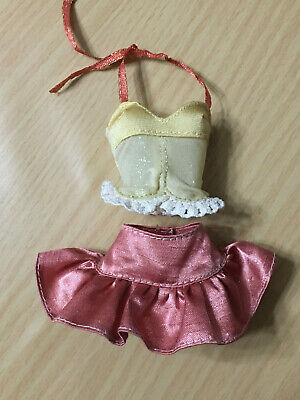 Barbie My Scene Chelsea Doll Outfit Purple Lace Halter Top Mermaid Skirt Rare