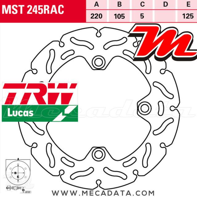 Disque de frein Arrière TRW Lucas MST 245 RAC Honda CB 250 F Hornet (MC31) 1999