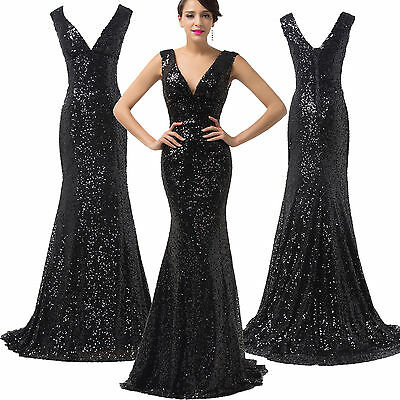 SEQUINS MERMAID Quinceanera Bridal Prom Gown Party Evening HOMECOMING Slim Dress