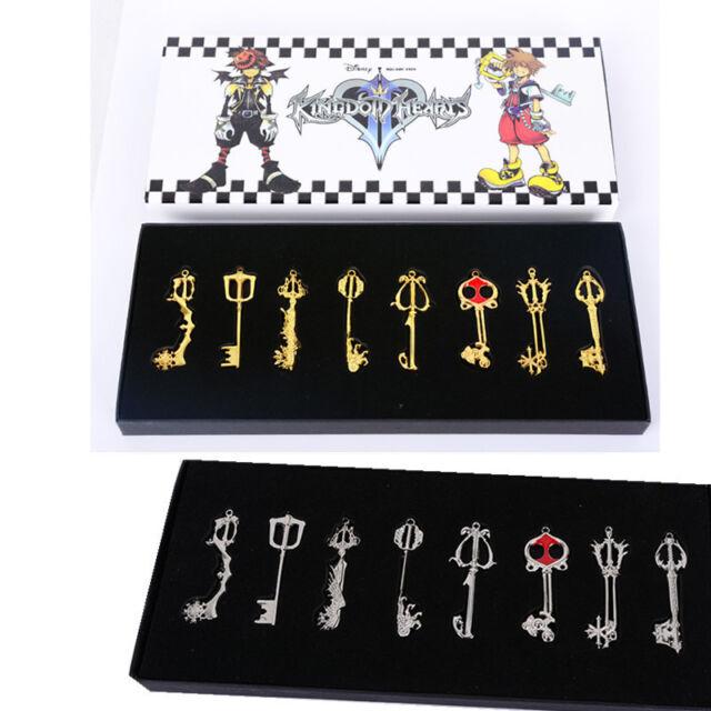 13pcs// Kingdom Hearts II KEY BLADE Necklace Pendant+Keyblade+Keychain Silver New
