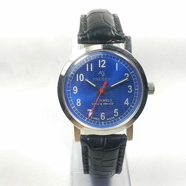 Vintage Tressa Hand Winding Movement Dial Mens Analog Wrist Watch BA258