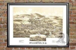 Old-Map-of-Millerton-NY-from-1887-Vintage-New-York-Art-Historic-Decor