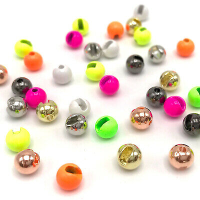 100 Fly Tying Tungsten Beads Copper  size 1//8   FREE SHIPPING