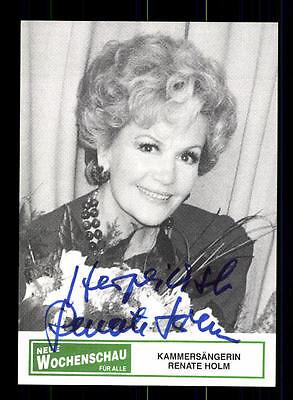 Autogramme & Autographen Musik Selbstlos Renate Holm Autogrammkarte Original Signiert ## Bc 75471