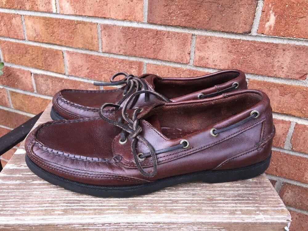 7d93151114cc DOCKERS Burgundy Burgundy Burgundy Cordovan LEATHER Mocassins Loafers  Oxfords Mens Shoes Sz 9 8c1caf