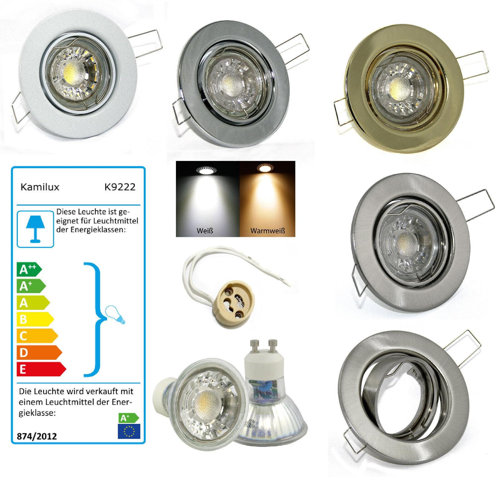 Einbauleuchte Lia 230V High Power Led 5W = 50W MCOB Lampe GU10 Dimmbar