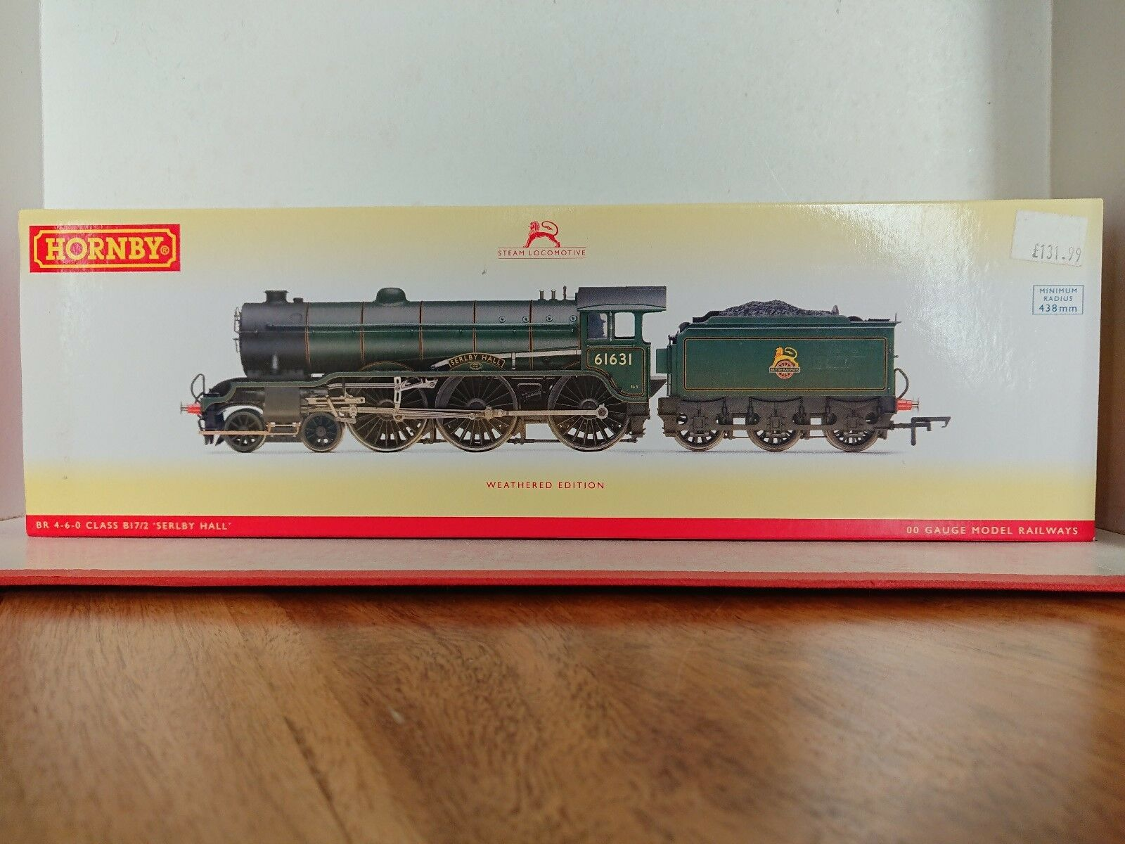 Hornby R3004 BR 4-6-0 Class B17 2  Serlby Hall  No.61631 Weatherot DCC Ready NEW