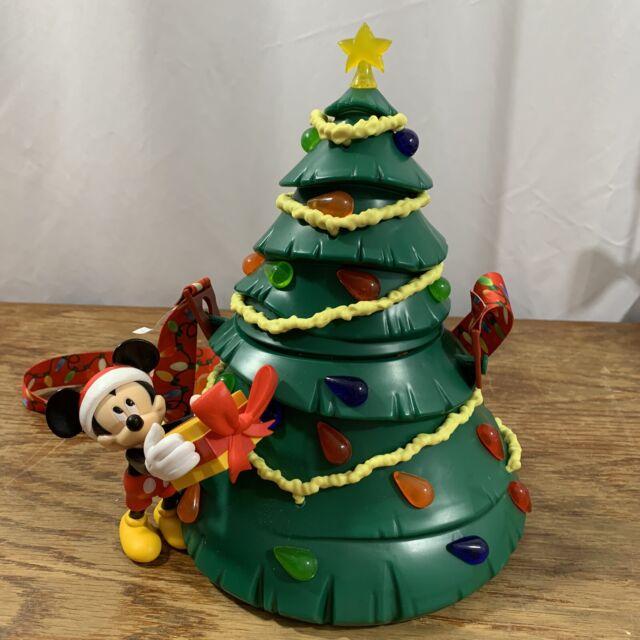 2019 Disney Parks Mickey Mouse Light Up Tree Popcorn Christmas Holiday Bucket | eBay