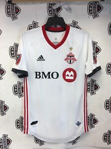 newest 88f2f 6abea Details about Toronto FC 2018 Away White Authentic On Field Jersey  Champions GOLD STAR Small