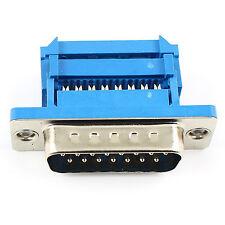 D-Sub; PIN 1 Pcs 15; Plug; mâle; Droit; à souder; Pour Câble; Noir