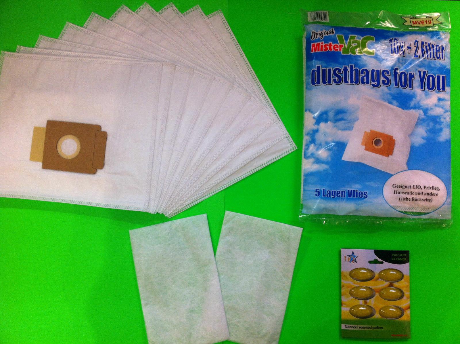 10 sacs pour aspirateur rotel u64.4 u64.5 u65.9 Filtre sacs