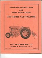 Allis Chalmers 200 Series Cultivators Operating Instructions Manual