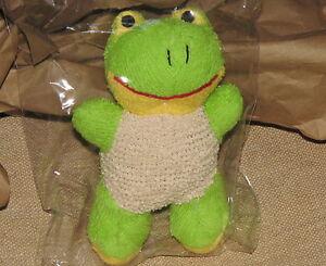 BATH-SCRUBBER-green-FROG-froggy-COTTON-HEMP-RAMIE-Bathing-Scrubby-Sponge-loofa