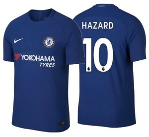 finest selection 87093 211ed Details about NIKE EDEN HAZARD CHELSEA FC AUTHENTIC VAPOR MATCH HOME JERSEY  2017/18.