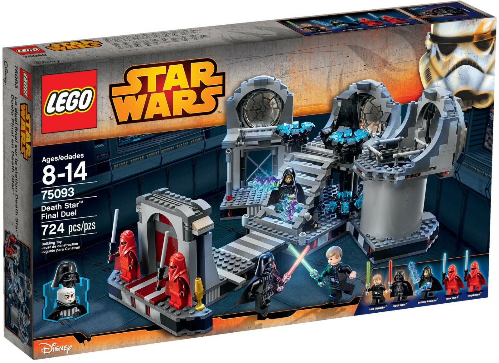 NEW LEGO DEATH STAR FINAL DUEL 75093 Set Sealed Box 5 minifigs Vader Palpatine