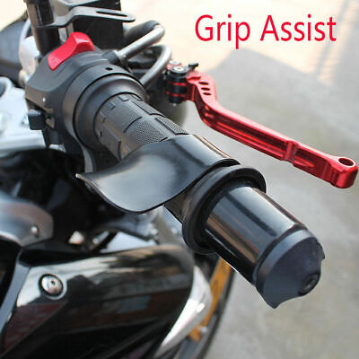 2 x Universal Carbon Motorcycle Throttle Cruise Control Cramp Assist Buying Guide Wrist Rest Aid Grip Rocker Black+Blue