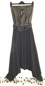 BNWT-LADIES-LOVELY-SPARKLY-BLACK-HAREM-PANT-EVENING-WEAR-BY-HEAVEN-SIZE-10