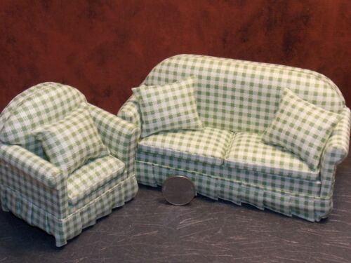 Dollhouse Miniature Modern Living Room Set Green 1:12 scale Y13 Dollys Gallery