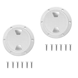 2x-8-034-Marine-Round-Deck-Inspection-Access-Hatch-With-Detachable-Cover-250mm