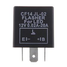CF14 JL-02 3 Pin Electronic Motorcycle Car Flasher Relay Fix LED Hyper Flash