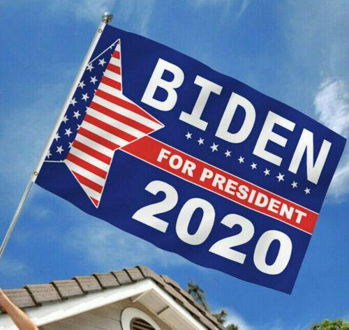 Free Shipping from USA. JOE BIDEN FOR PRESIDENT 2020 Flag 3'X5'