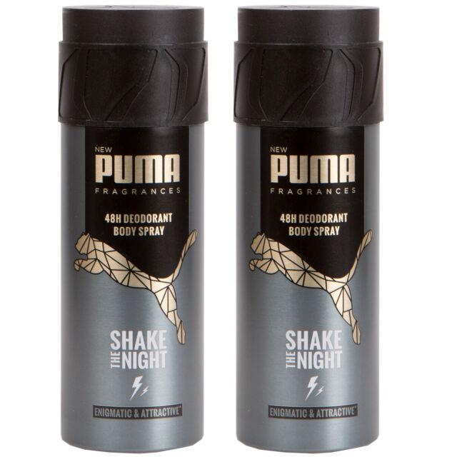 Puma 48H Deo Spray Body Spray SHAKE THE NIGHT 2 x 150 ml ---NEU---