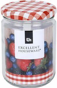 Set-of-12-Glass-Preserve-Jar-500ml-Large-Preserve-Jars-With-Red-Tartan-Lids