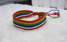Gay Pride Rainbow Wristband Lesbian Friendship Bracelet LGBT Charm Cuff Bangle