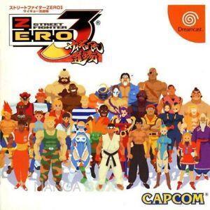STREET-FIGHTER-ZERO-3-SEGA-DREAMCAST-NTSC-J-JPN-JAP-CAPCOM-2D-Beat-039-Em-Up