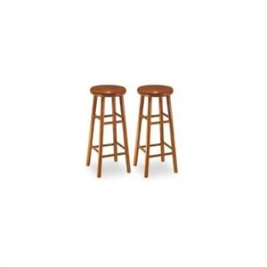 Awesome Details About Winsome 30 Backless Swivel Bar Stools In Cherry Set Of 2 Gmtry Best Dining Table And Chair Ideas Images Gmtryco