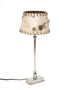Design-Lampe-De-Table-avec-Abat-jour-en-Birke-Ecorce-D-039-Arbre-Bois-Metal