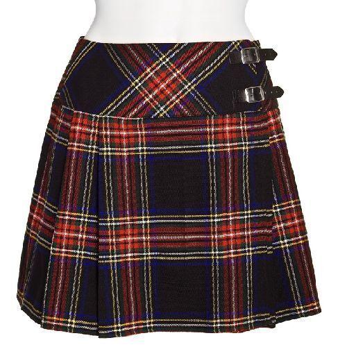 Scottish Ladies Mini Skirt Various Tartans Acrylic Wool//Women Kilt Pin 16/' long
