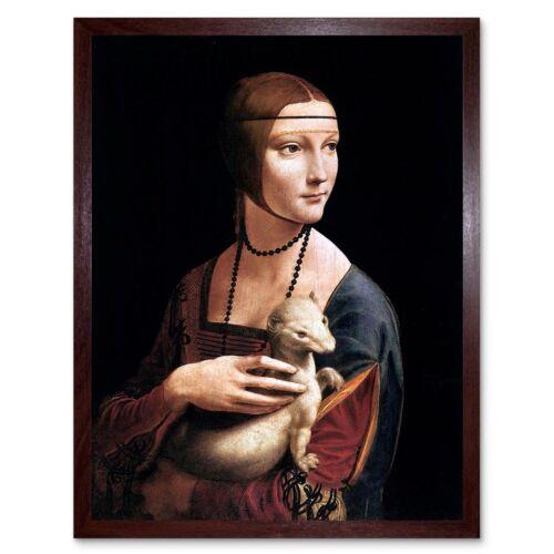 Leonardo Di Ser Piero Da Vinci Lady Ermine Cecilia Gallerani 12X16 Framed Print