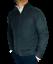 maglione-cardigan-uomo-classico-lana-cachemire-cotone-girocollo-zip-regular miniature 2