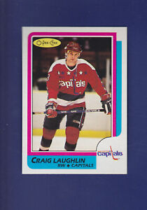 Craig-Laughlin-1986-87-O-PEE-CHEE-Hockey-35-MINT-Washington-Capitals
