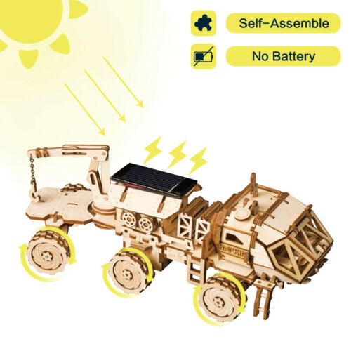 ROKR 3D Puzzle Wooden Model Building Kits Spacing Hunting Solar Energy Toy Boys